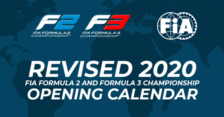 FIA Formula 2 and FIA Formula 3 confirm opening eight rounds of their revised 2020 calendars